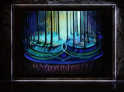 """""""Whisper"""" Illuminated print in Led Lightbox Frame"""