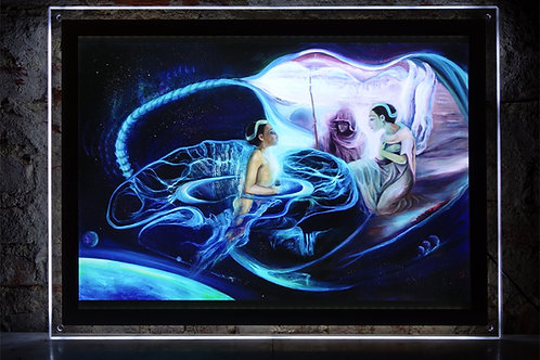 """The Portal"" Illuminated print in Led Lightbox Frame"