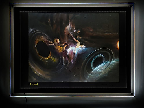 """The Spark"" Illuminated print in Led Lightbox Frame"