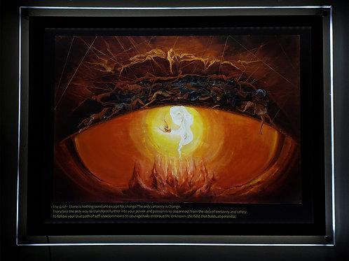 """The Grid"" Illuminated print in Led Lightbox Frame"
