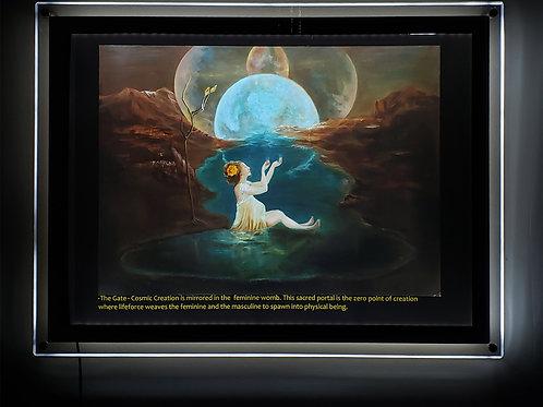 """""""The Gate"""" Illuminated print in Led Lightbox Frame"""