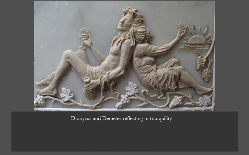 Dionysus and Demeter