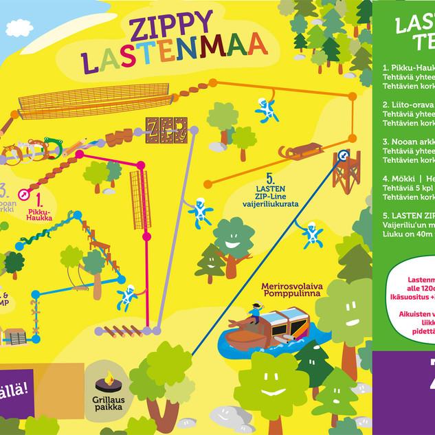 Seikkailupuisto ZippyPark Helsinki_laste
