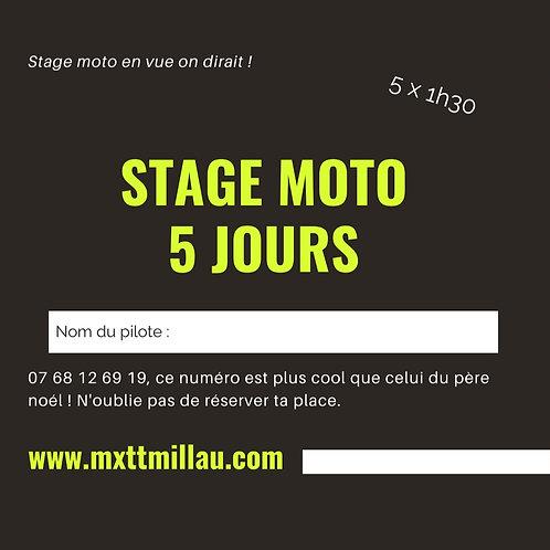 Stage moto sur 5 jours, 5 x 1h30