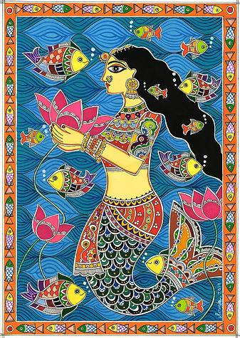 Madhubani Mermaid