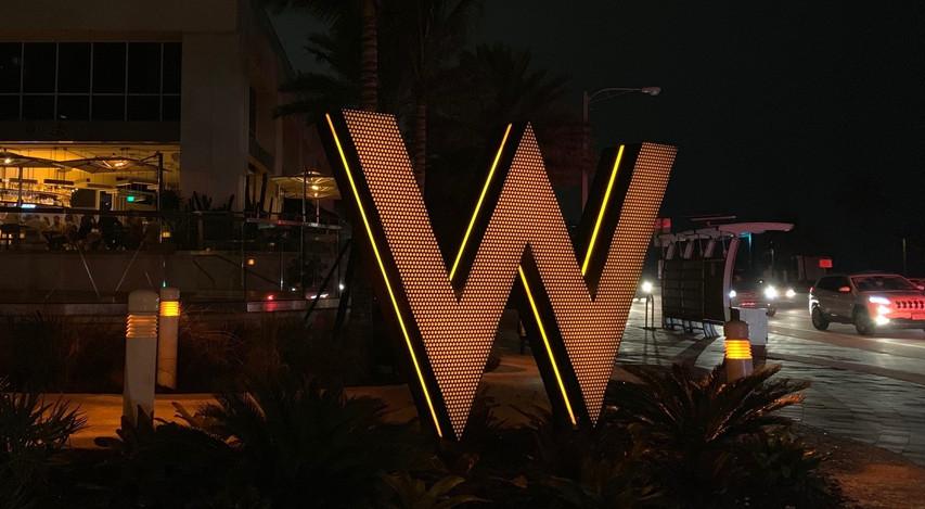 WESTIN HOTEL 'W' SIGN_NIGHTTIME