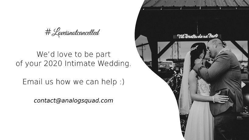 Intimate Wedding Promotion