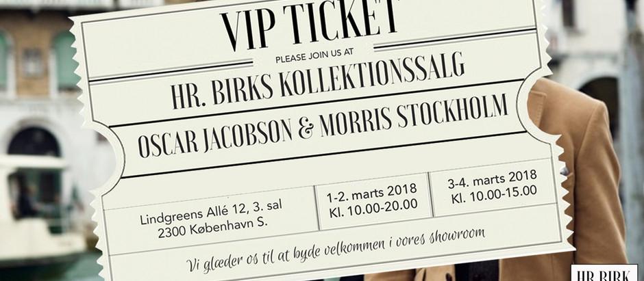 HR. BIRK afholder kollektionssalg