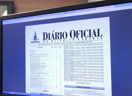 Consultar o Diário Oficial do DF ficou mais prático e fácil