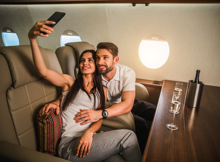 What sort of people fly in private jets?