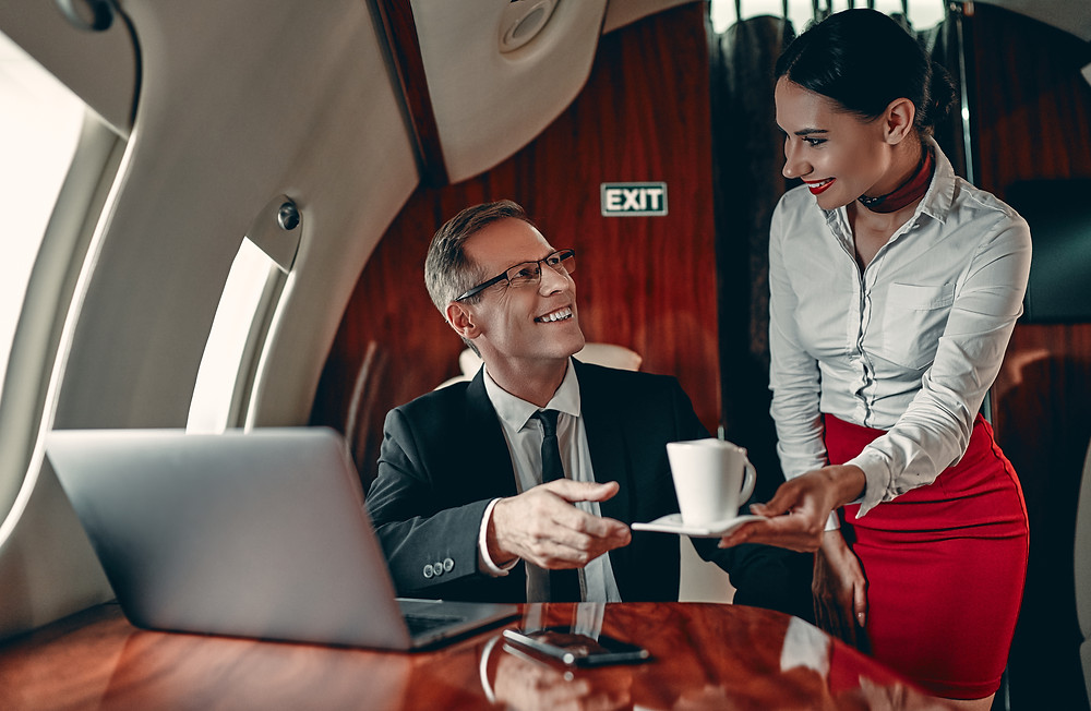 Private jet charter service
