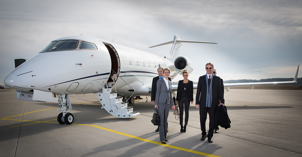 Companies use private jet charter