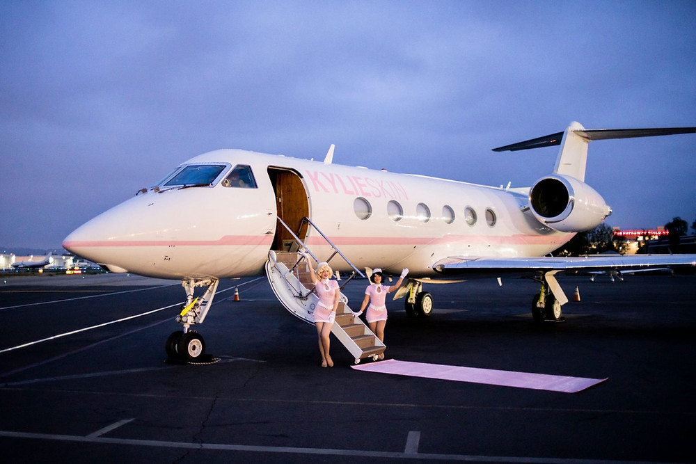 "Kylie Jenner's private jet ""Kylie Air"""