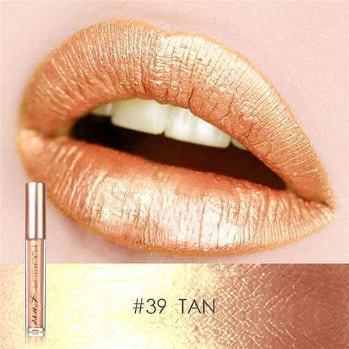 Metallic Waterproof Lip Gloss Liquid Lipstick - #39