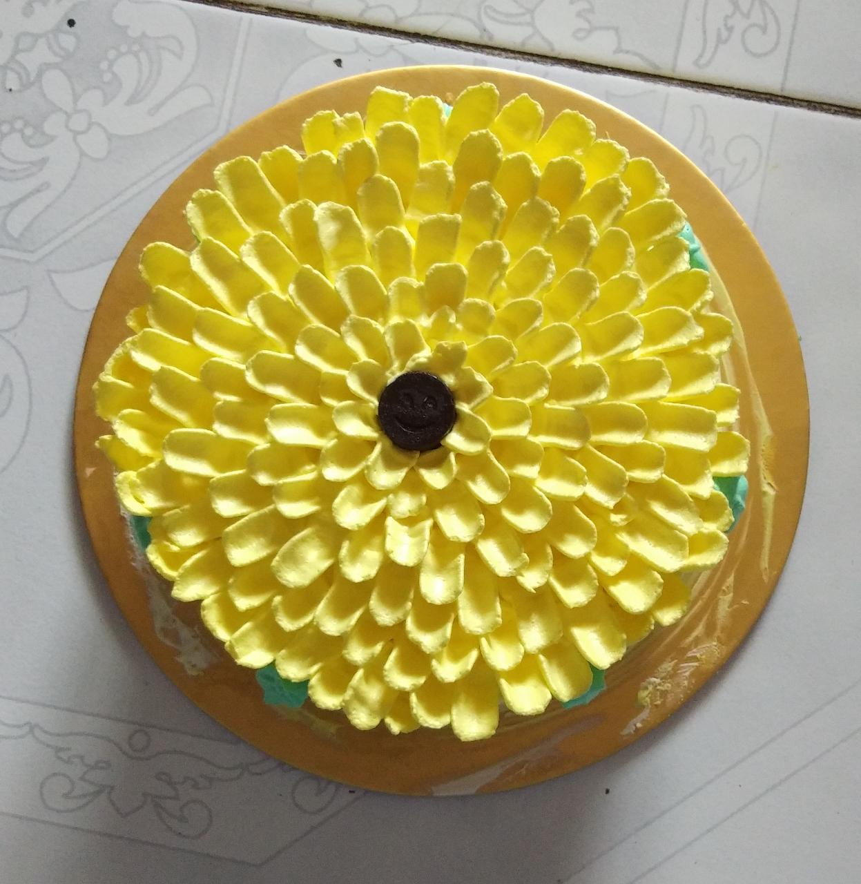 Pineapple Sunflower Cake