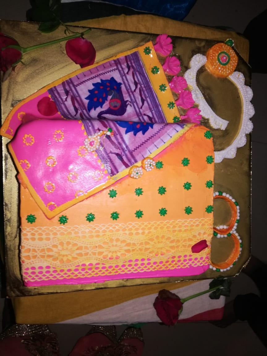 Fondant Saree Cake