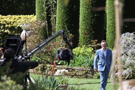 Jimmy Jib shot of presenter