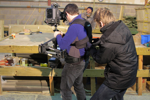 Steadicam in action
