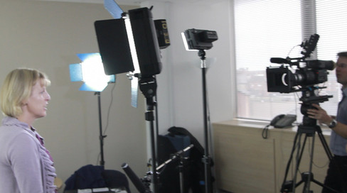 Filming on white screen