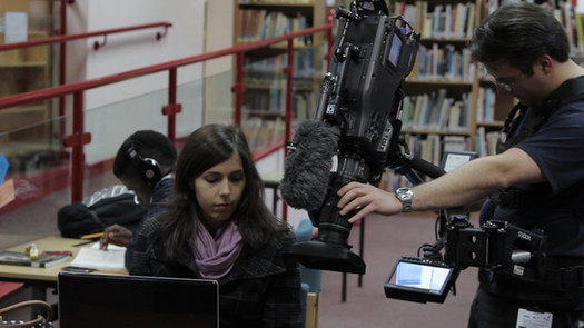 Filming web advert