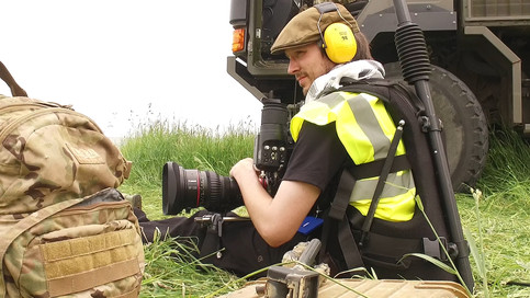 Cameraman Andy on Phantom Flex Super high speed camera