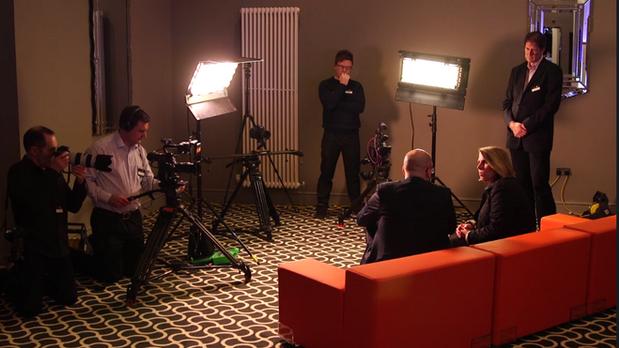 3 camera interview set up