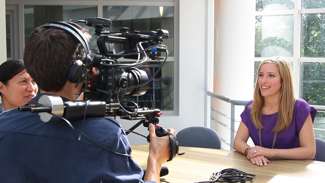 Filming interview