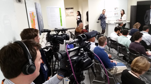 Filming live company presentation