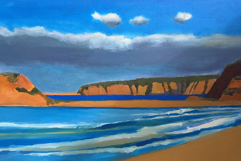 "No.07 Merv Moriarty - ""South from Bournda Beach Headland, Bournda Island"""