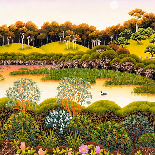 Annie Franklin - giclee print - long swamp, looking north