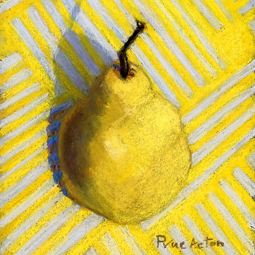 No.28 Prue Acton - Pear #1 Yellow Pear on Yellow
