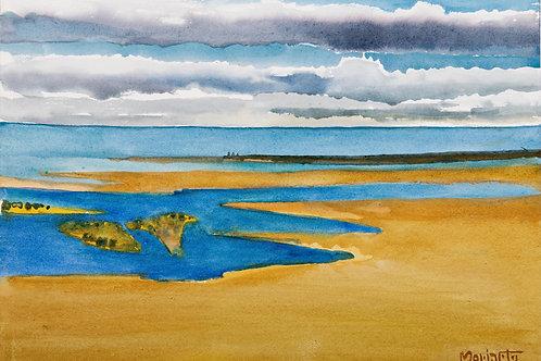 """No.11 Merv Moriarty - watercolour """"Wallagoot Lake Entrance"""""""