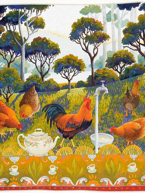 Annie Franklin - giclee print - English breakfast