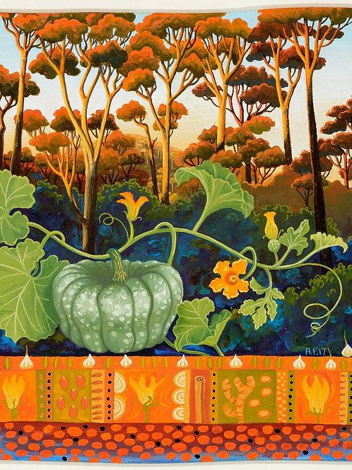 Annie Franklin - giclee print - pumpkin dahl