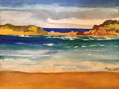 "No.16 Merv Moriarty - watercolour ""Bournda Headland II"""