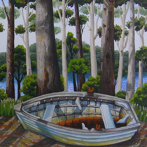 Annie Franklin - giclee print - dry dock, Wapengo Lake