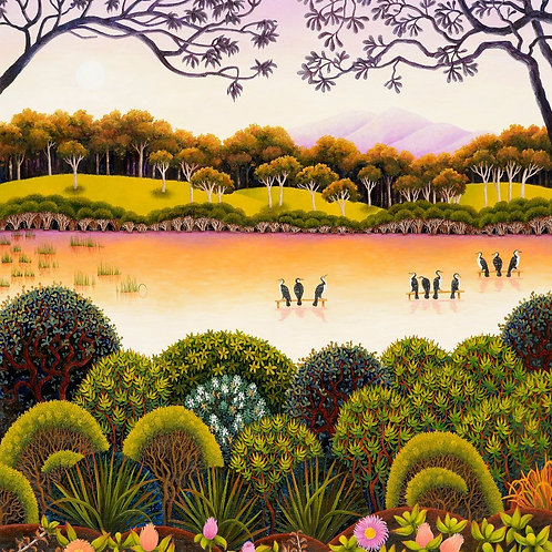 Annie Franklin - giclee print - long swamp, looking south