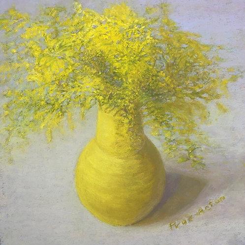 No.29 Prue Acton - Wattle #6 Yellow on Blue