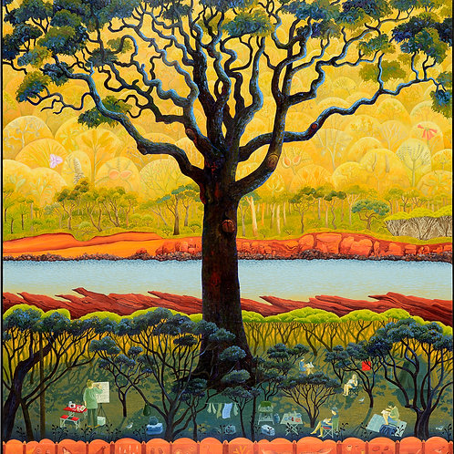 Annie Franklin - giclee print - autumn art camp, Bittangabee Bay