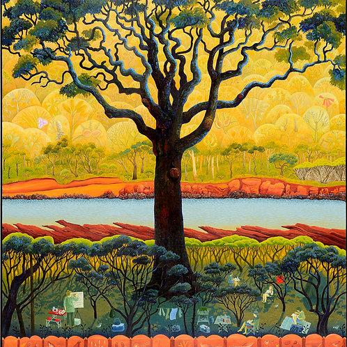 Annie Franklin - giclee print - autumn art camp, Bittangabee Bay