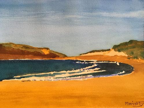 """No.17 Merv Moriarty - watercolour """"Bournda Beach"""""""