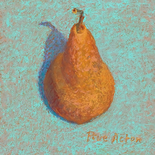 No.34 Prue Acton - Pear #5 Brown on Cyan