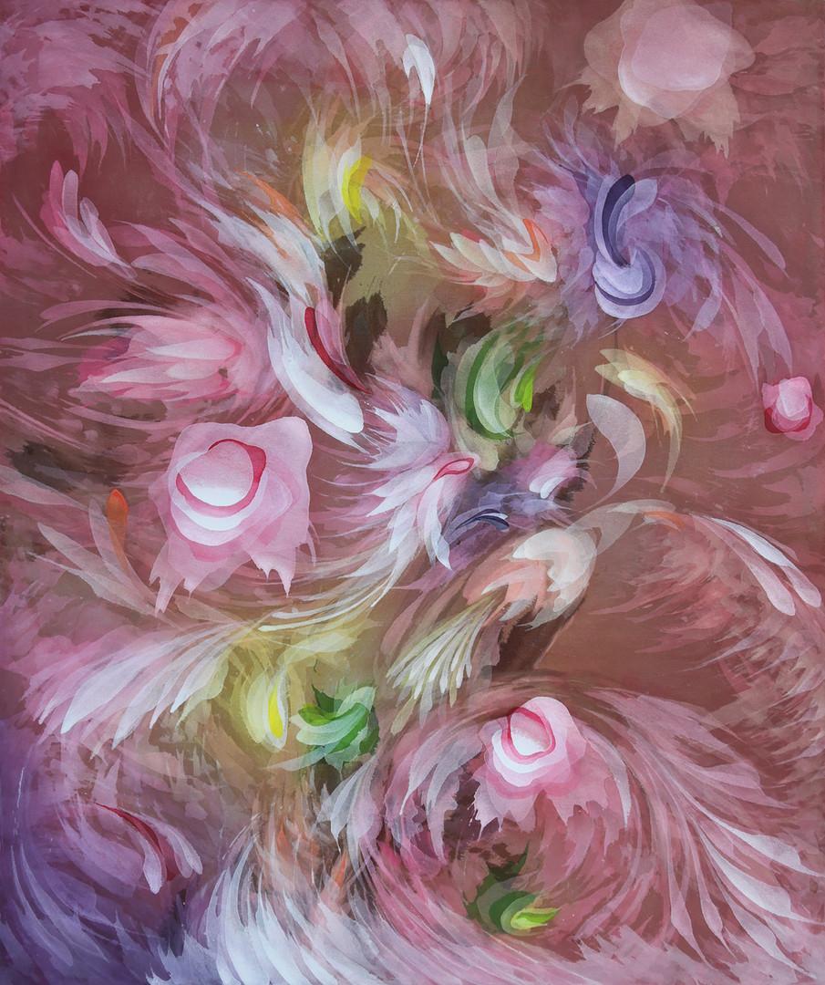 16. Renacer Rosa, 100 x 120 cm