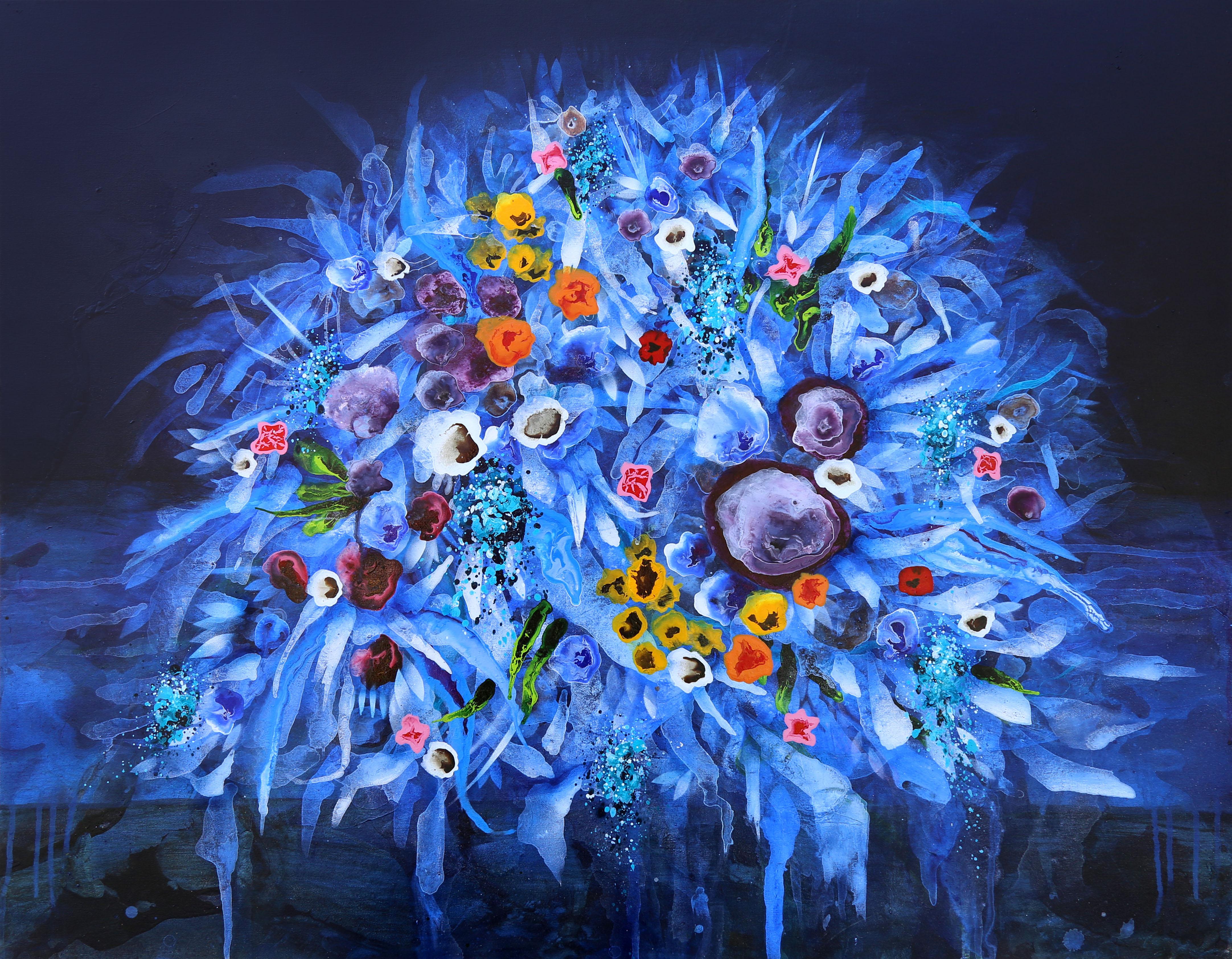 Flores em Azul