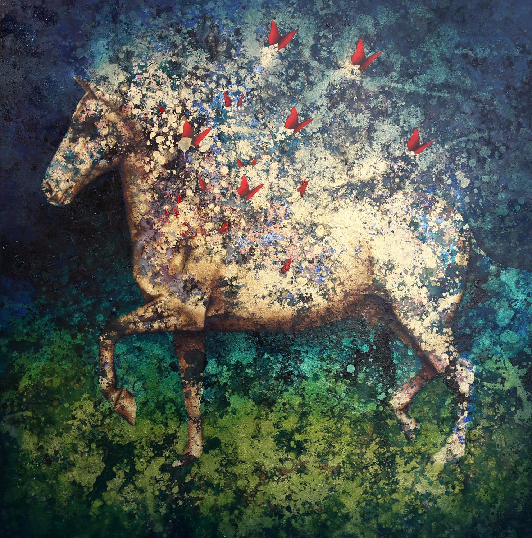 Cavalo com Borboletas #2
