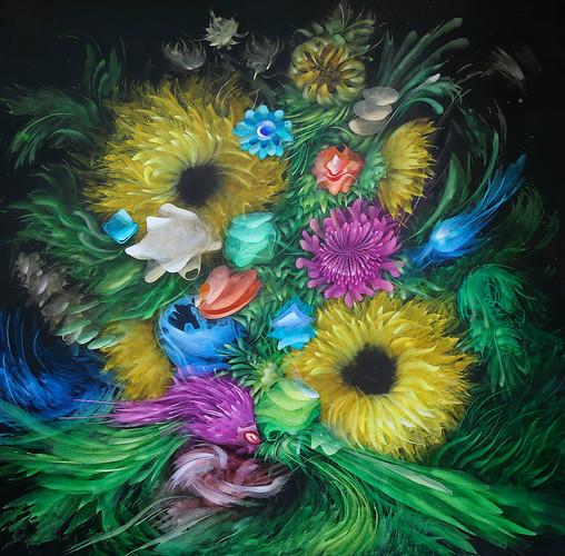 1. Flores do Brasil, 150 x 150 cm