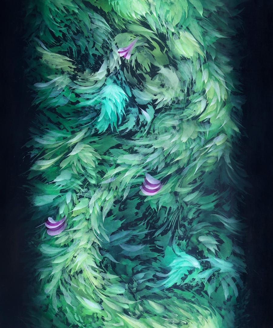 4. Enredadera Celestial, 130 x 150 cm