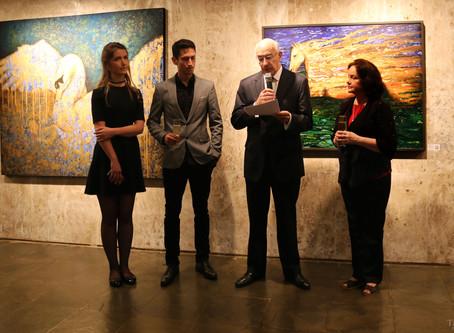El discurso del embajador de Colombia Sr. Alejandro Borda sobre la obra de Manrique