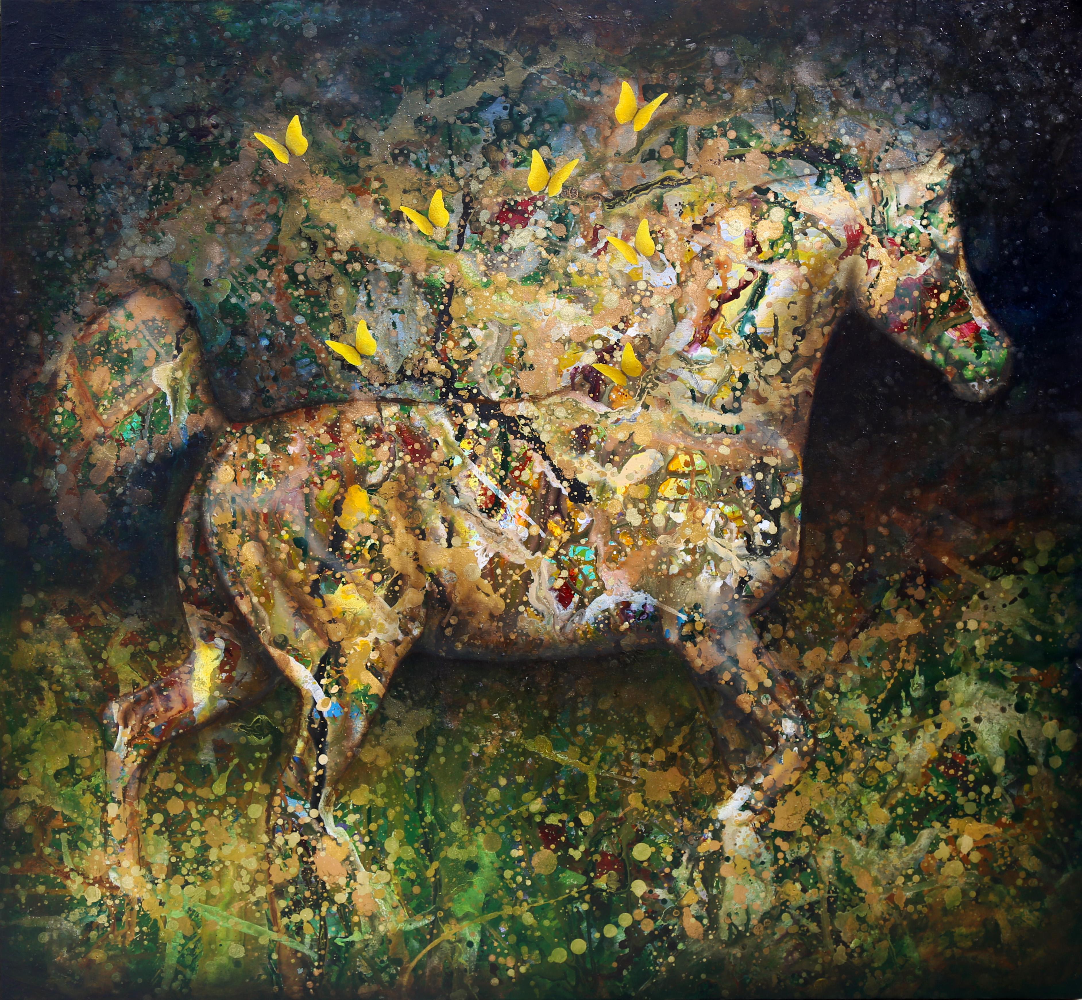Cavalo com Borboletas