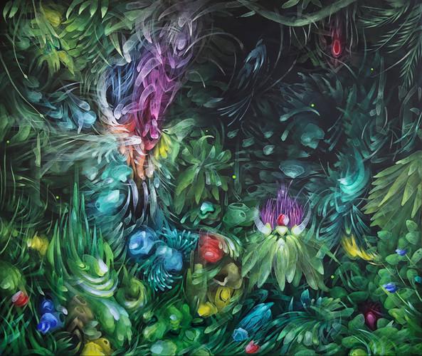 7. Amazonico, 120 x 100 cm
